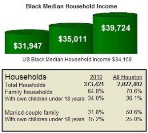 2010 Houston Black Household Chart