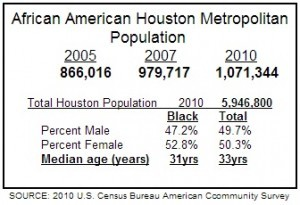 Houston Population Chart