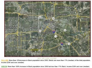 Inner Loop Black Houston Map