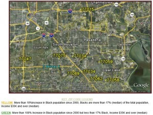 SE Houston Black Population Growth Map